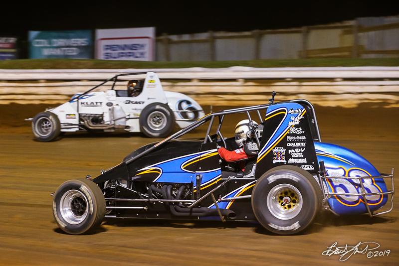 Williams Grove 100 - USAC Silver Crown Champ Car Series - Williams Grove Speedway - 6 Brady Bacon, 53 Steve Buckwalter