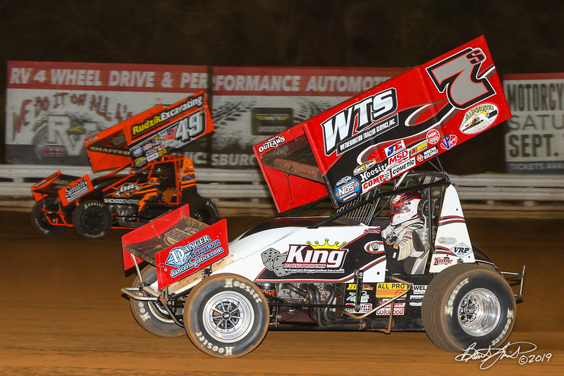 World of Outlaws NOS Energy Drink Sprint Cars - Williams Grove Speedway - 49x Tim Shaffer, 7S Jason Sides