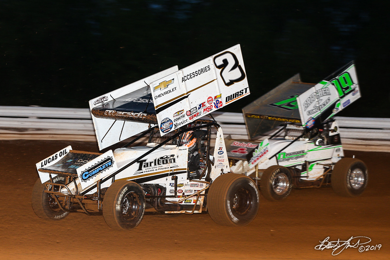 World of Outlaws NOS Energy Drink Sprint Cars - Williams Grove Speedway - 2 Carson Macedo, 19M Landon Myers
