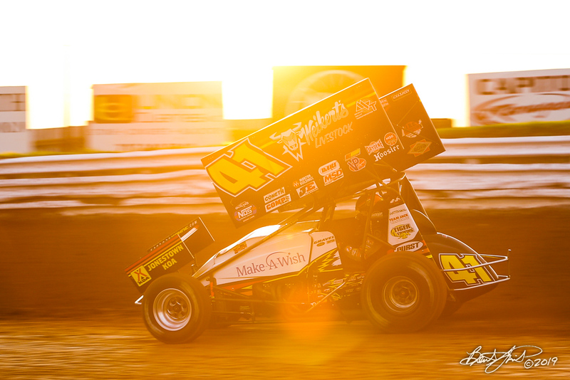 World of Outlaws NOS Energy Drink Sprint Cars - Williams Grove Speedway - 41 David Gravel