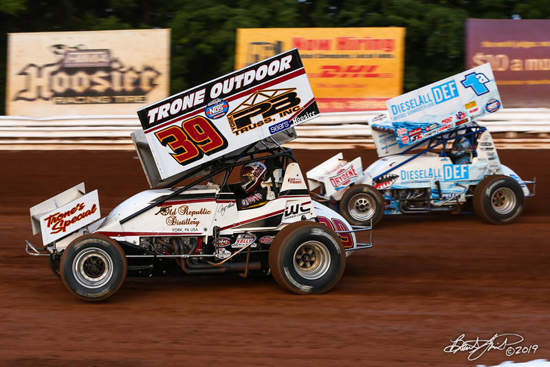 Champion Racing Oil Summer Nationals - World of Outlaws Nos Energy Drink Sprint Cars Series - Williams Grove Speedway - 39 Cory Haas, 1A Jacob Allen