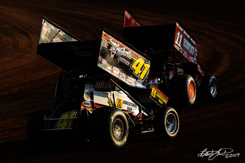 Champion Racing Oil Summer Nationals - World of Outlaws Nos Energy Drink Sprint Cars Series - Williams Grove Speedway - 41 David Gravel