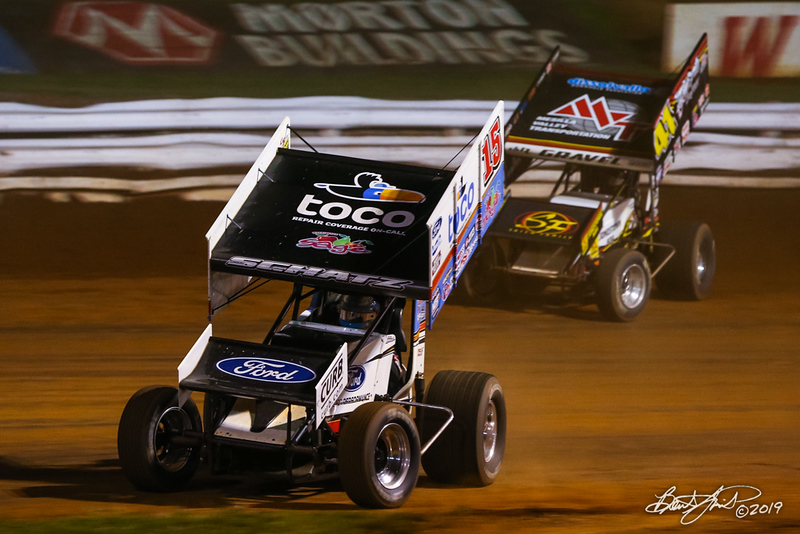Champion Racing Oil Summer Nationals - World of Outlaws Nos Energy Drink Sprint Cars Series - Williams Grove Speedway - 15 Donny Schatz, 41 David Gravel