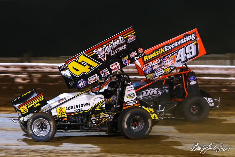 Champion Racing Oil Summer Nationals - World of Outlaws Nos Energy Drink Sprint Cars Series - Williams Grove Speedway - 41 David Gravel, 49X Tim Shaffer