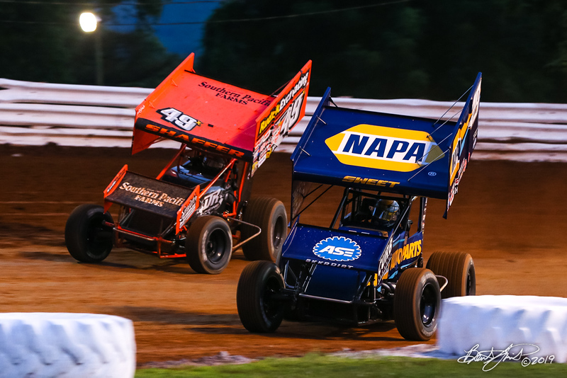 Champion Racing Oil Summer Nationals - World of Outlaws Nos Energy Drink Sprint Cars Series - Williams Grove Speedway - 49X Tim Shaffer, 49 Brad Sweet
