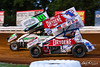 Champion Racing Oil Summer Nationals - World of Outlaws Nos Energy Drink Sprint Cars Series - Williams Grove Speedway - 19 Landon Myers, 1S Logan Schuchart