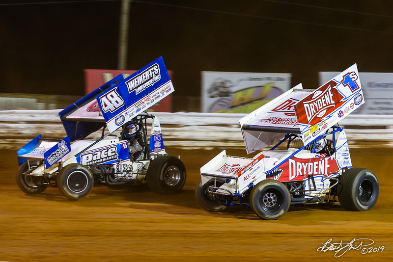 Champion Racing Oil Summer Nationals - World of Outlaws Nos Energy Drink Sprint Cars Series - Williams Grove Speedway - 48 Danny Dietrich, 1S Logan Schuchart
