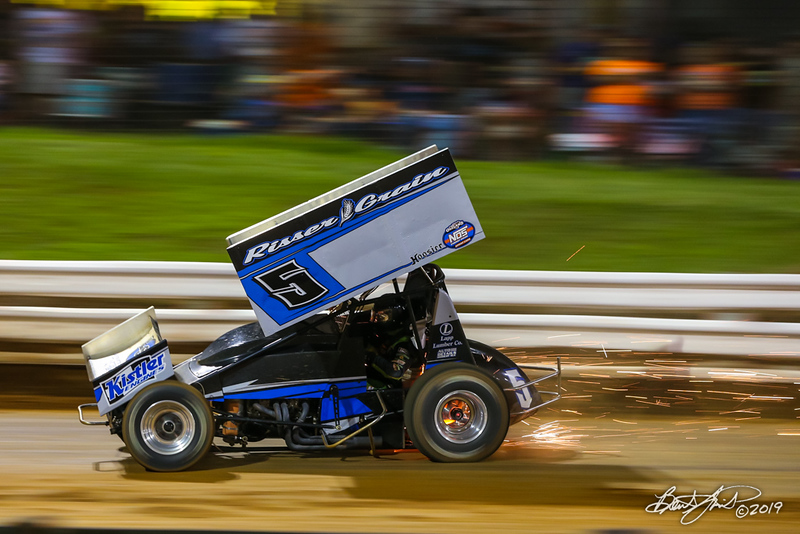 Champion Racing Oil Summer Nationals - World of Outlaws Nos Energy Drink Sprint Cars Series - Williams Grove Speedway - 5H Jeff Halligan