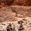 The McFadden family in the Narrows of Zion Canyon.