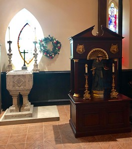 Font & Shrine of St Francis, Epiphany 2019