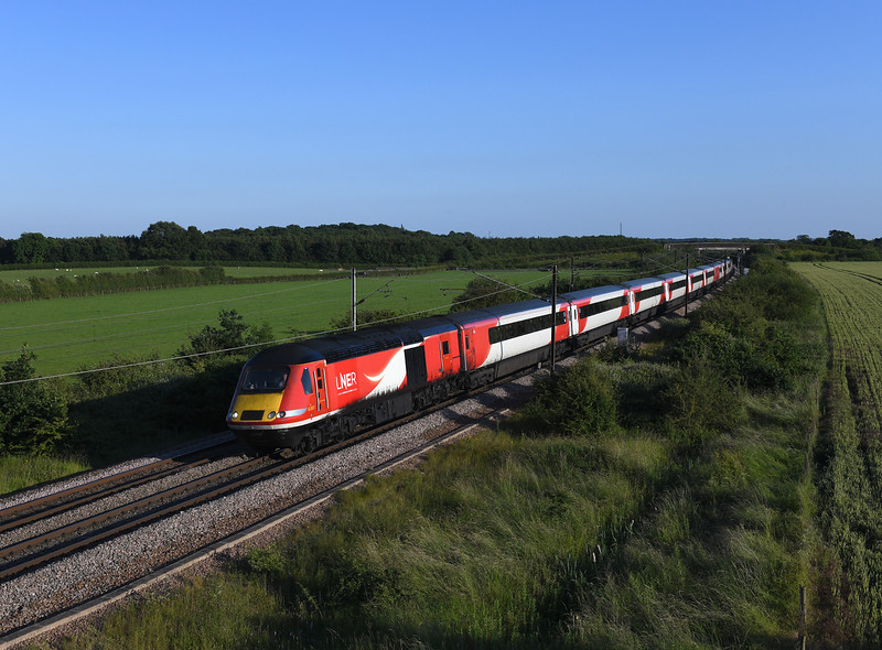 43307 heading north at Colton with 1S28 18:00 London Kings Cross to Edinburgh LNER service.03/07/2019.