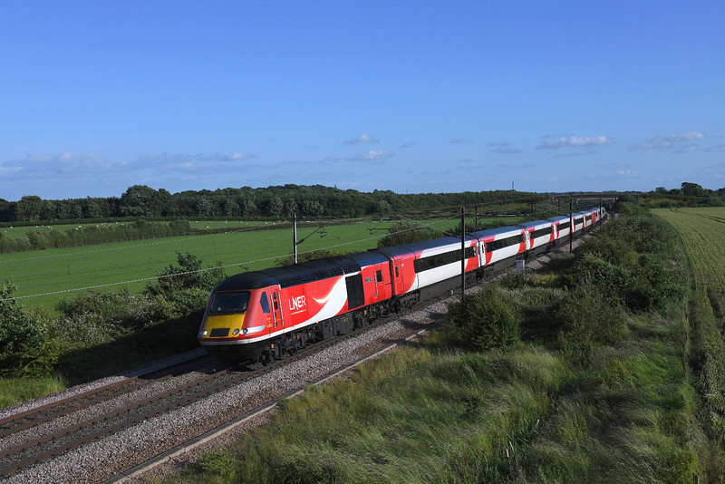 43302 speeds towards Colton junction in charge of the 1st stop York 1S26 17:00 London Kings Cross to Edinburgh LNER service.01/07/2019.
