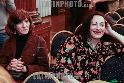 Argentina : Cooperativa Arte TV Trans en la Legislatura de la Ciudad de Buenos Aires recibiendo el premio a la Trayectoria , el 17/07/2019 Día Internacional contra la Homofobia , Lesbofobia, Transfobia . En el año del 50º Aniversario de los disturbios de STONEWALL , festejamos este día con una muestra de su trabajo en donde TODES son Bienvenides , Se hizo un fragmento de MADE IN LANUS , una de sus obras en gira y cerro con el desfiles de Inevitable Vanidad de Emma Serna / award ceremony Trayectoria on the International Day Against Homophobia , Transphobia and Biphobia / Argentinien : Preisverleihung Trayectoria am Internationaler Tag gegen Homophobie , Transphobie und Biphobie 2019 © Santiago Debenedetti/LATINPHOTO.org