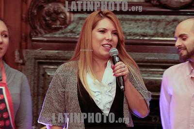 Argentina : Cooperativa Arte TV Trans en la Legislatura de la Ciudad de Buenos Aires recibiendo el premio a la Trayectoria , el 17/07/2019 Día Internacional contra la Homofobia , Lesbofobia, Transfobia . En el año del 50º Aniversario de los disturbios de STONEWALL , festejamos este día con una muestra de su trabajo en donde TODES son Bienvenides , Se hizo un fragmento de MADE IN LANUS , una de sus obras en gira y cerro con el desfiles de Inevitable Vanidad de Emma Serna / award ceremony Trayectoria on the International Day Against Homophobia , Transphobia and Biphobia / Argentinien : Luli Arias spricht an der Preisverleihung Trayectoria am Internationaler Tag gegen Homophobie , Transphobie und Biphobie 2019 © Santiago Debenedetti/LATINPHOTO.org