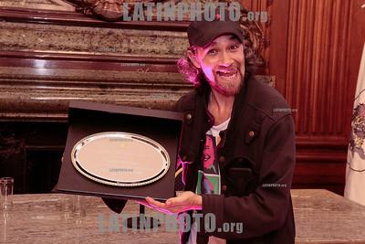 Argentina : Cooperativa Arte TV Trans en la Legislatura de la Ciudad de Buenos Aires recibiendo el premio a la Trayectoria , el 17/07/2019 Día Internacional contra la Homofobia , Lesbofobia, Transfobia . En el año del 50º Aniversario de los disturbios de STONEWALL , festejamos este día con una muestra de su trabajo en donde TODES son Bienvenides , Se hizo un fragmento de MADE IN LANUS , una de sus obras en gira y cerro con el desfiles de Inevitable Vanidad de Emma Serna / award ceremony Trayectoria on the International Day Against Homophobia , Transphobia and Biphobia / Argentinien : schauspieler Lucas Goye an derPreisverleihung Trayectoria am Internationaler Tag gegen Homophobie , Transphobie und Biphobie 2019 © Santiago Debenedetti/LATINPHOTO.org