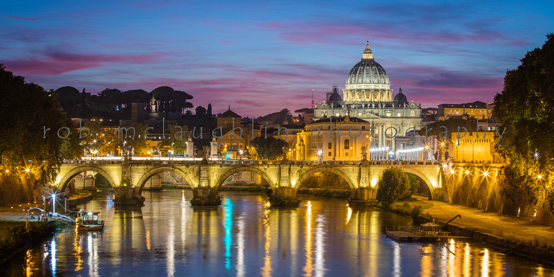 Vatican Lights, Tiber River, Rome