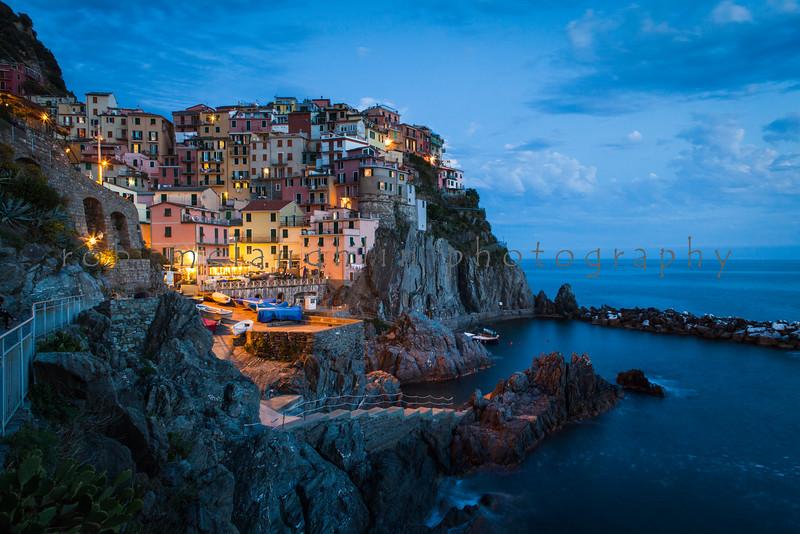 Lights of Manarola , Manarola , Cinque Terre