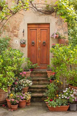 Door 9 , Pienza , Tuscany