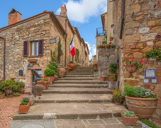Via dell'Addobbo, Pienza, Tuscany