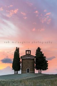 Madonna di Vitaleta Chapel , San Quirico D'Orcia , Tuscany