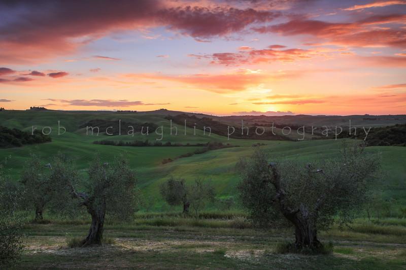 Podere Spedalone Sunset , near Pienza , Tuscany