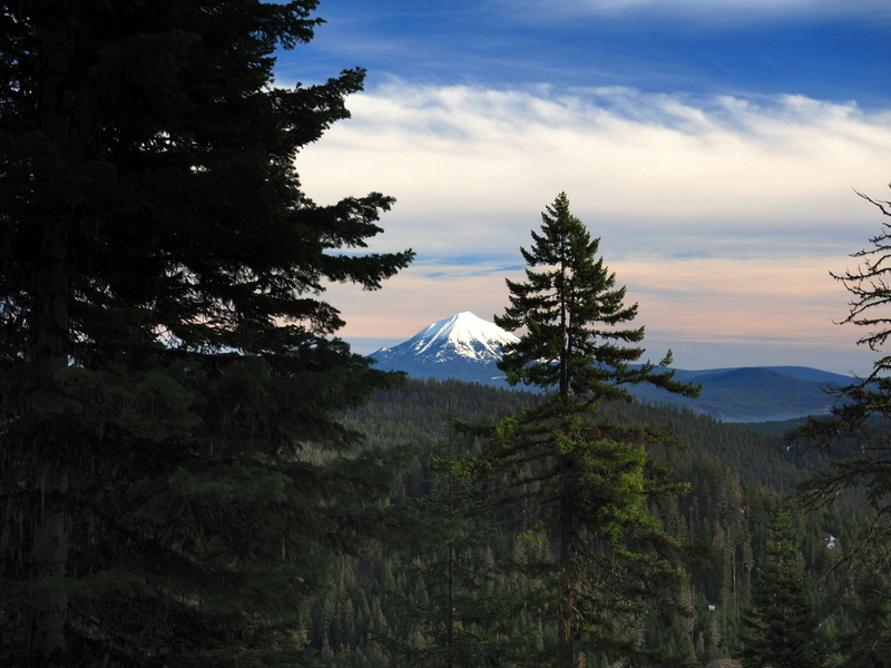 A view of Mount McLoughlin from the Grizzly Peak Trail, Oregon