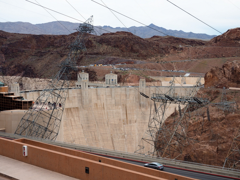 Hoover Dam from Nevada side