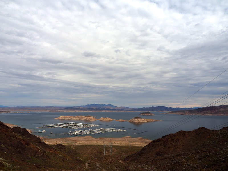 Lake Mead Marina from the Historic Railroad Trail, Lake Mead National Recreation Area, Nevada