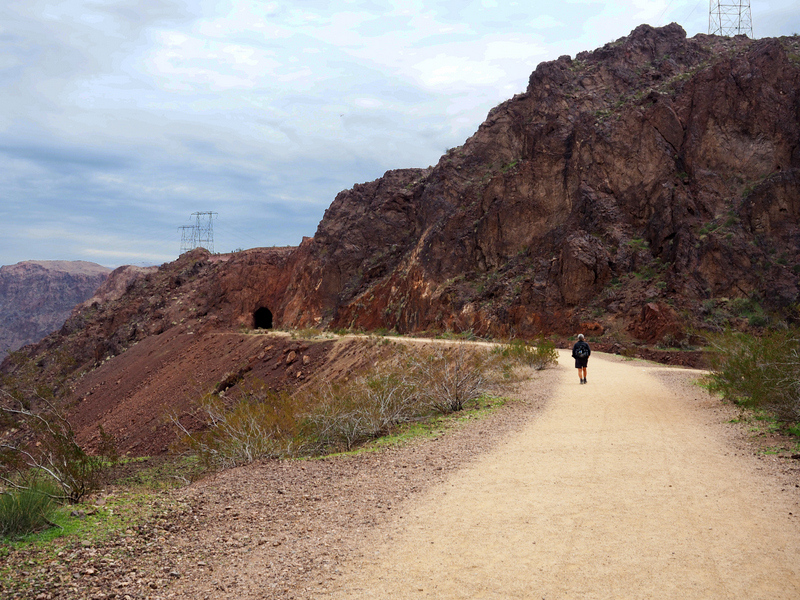 Toward Tunnel 5 - Historic Railroad Trail, Lake Mead National Recreation Area, Nevada