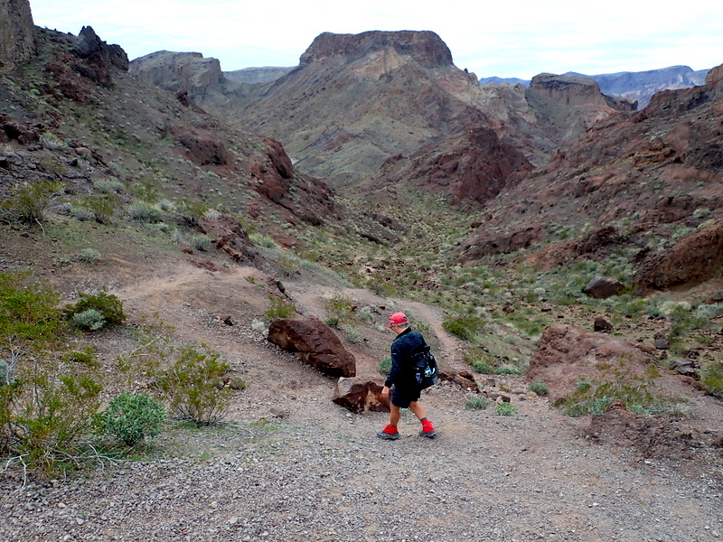 Descending a trail in to Hot Spring Canyon, Arizona