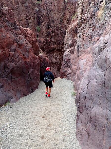 A slot canyon in to Hot Spring Canyon, Arizona