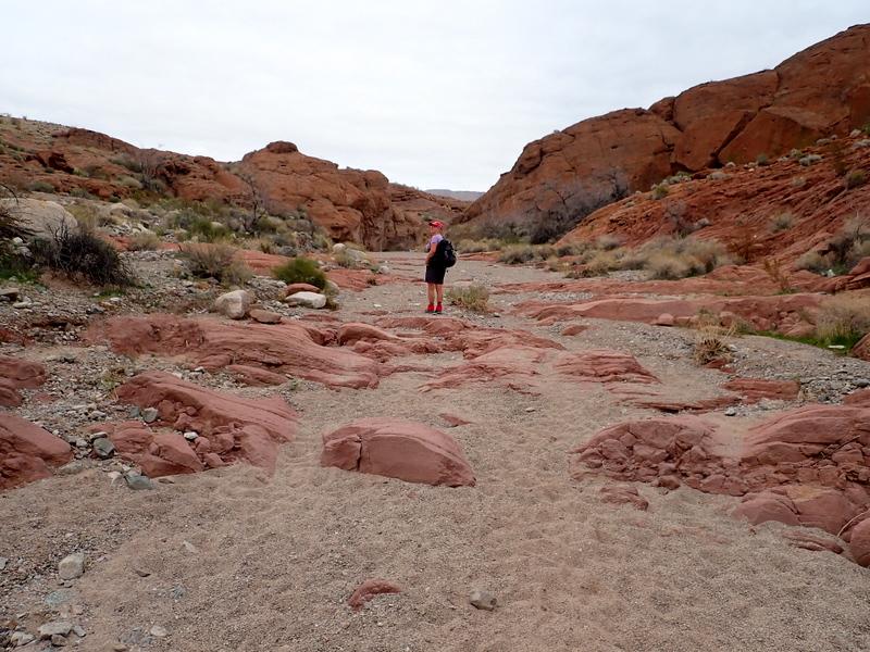 Hiking up White Rock Wash