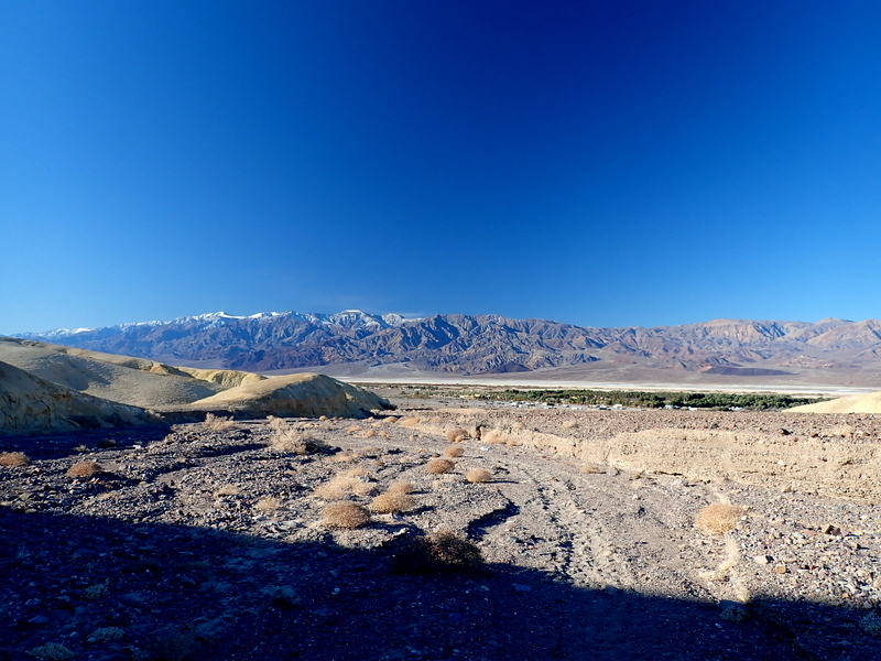 Hiking up a wash at Death Valley National Park, California