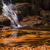 Long exposure of splash pool at Indian Brook Falls, Garrison, NY
