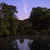 Comet NEOWISE reflecting in farm pond, Millbrook, NY