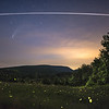 Comet NEOWISE, International Space Station, and fireflies illuminating Stissing Mountain, Pine Plains, NY