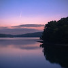 Comet NEOWISE reflecting in the Ashokan Reservoir in the pre-dawn, Olivebridge, NY