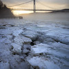 January thaw on the Hudson River, Poughkeepsie, NY