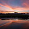 Sunset over Hudson Highlands from Constitution Marsh, Garrison, NY