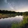 Milky Way over farm pond, Millbrook, NY