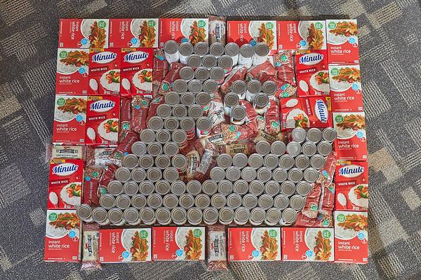 2020 UWL Art Spire Canstruction Food Donation 0009