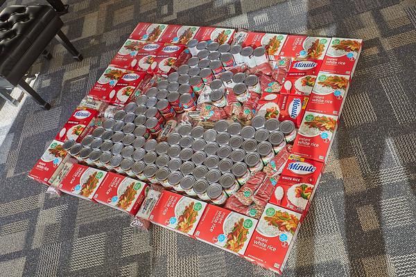 2020 UWL Art Spire Canstruction Food Donation 0012
