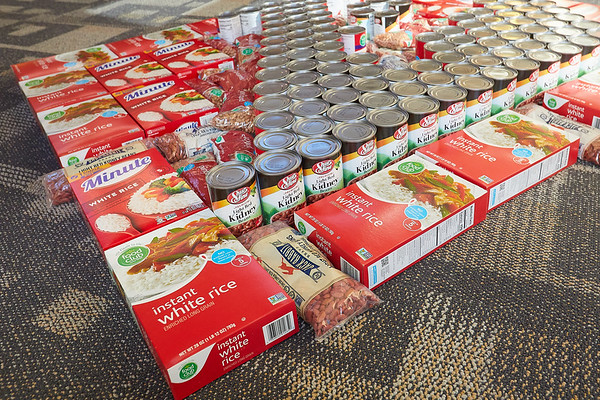 2020 UWL Art Spire Canstruction Food Donation 0018