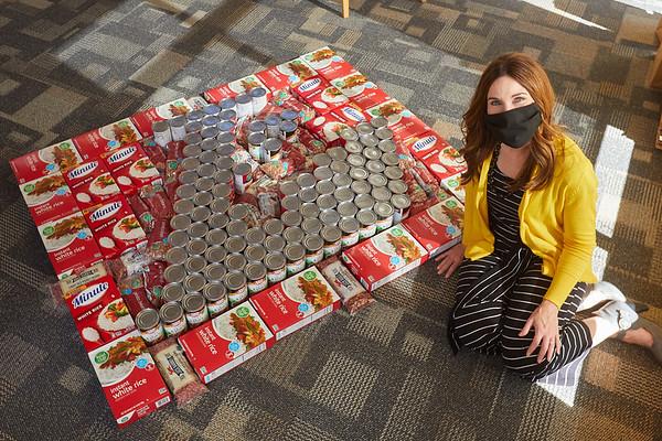 2020 UWL Art Spire Canstruction Food Donation 0024