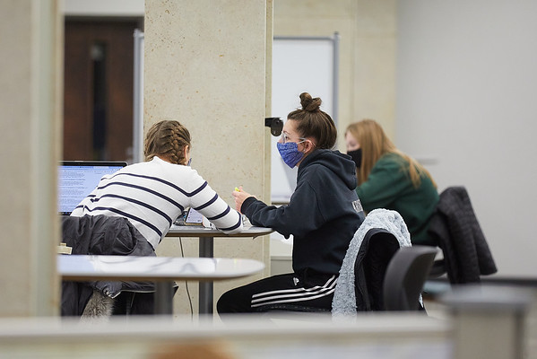 2020 UWL Student Studying Murphy Library 0044