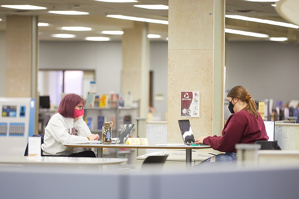 2020 UWL Student Studying Murphy Library 0056