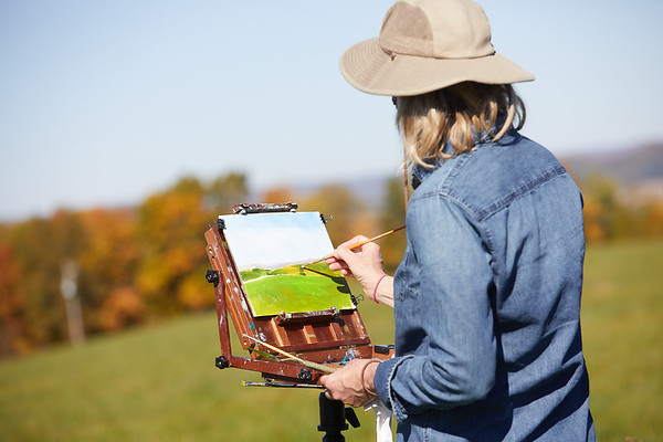 2020 UWL Art Painting FSPA land St  Joseph's ridge 0027