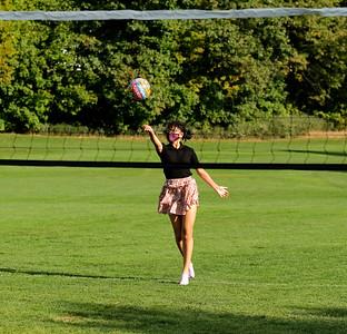 Students enjoy recreational volleyball