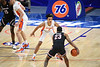 Florida Gators guard Tre Mann (1) on defense as the Florida Gators mens basketball team hosted the South Carolina Gamecocks at Exacteh Arena in Gainesville, Florida.  February 3rd, 2021. Gator Country Photo by David Bowie.