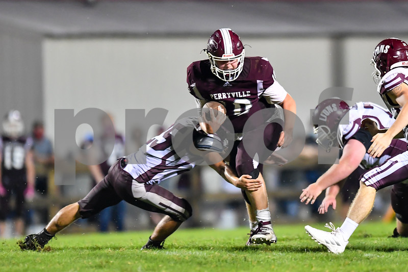Mt. Ida vs Perryville Mustangs in a football contest.This was senior night fot the Mustangs.